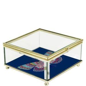Trina Turk Butterfly Glass Trinket Box